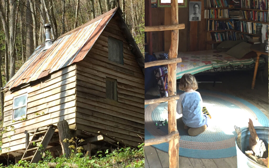 Off Grid cabin at Woodland Harvest Mountain Farm.